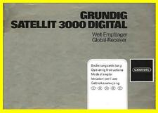 GRUNDIG SATELLIT 3000 SHORT WAVE  USER MANUAL