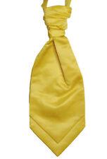 Cravates, nœuds papillon et foulards jaunes en satin pour homme