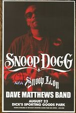 Snoop Dogg autographed gig poster Gin & Juice