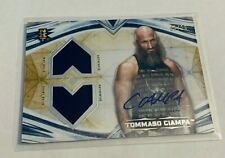 B16,189 - 2020 Undisputed WWE Dual Relic Autograph Gold Tommaso Ciampa #9/10
