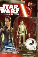 """Star Wars """"The Force Awakens"""" REY RESISTANCE - First Figure With Light Saber- NM"""