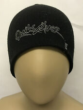 Quiksilver Butcher Boy Beanie Black Winter Hat Xmas CLEARANCE FREE P&P