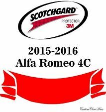 3M Scotchgard Paint Protection Film Clear Bra Pre-Cut 2015 2016 Alfa Romeo 4C