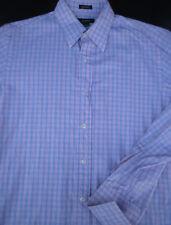 J Crew Mens Button Front Long Sleeve Cotton Plaid Shirt Medium M