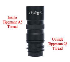 New Tippmann A5 To Tippmann 98, Us Army Alpha Black Paintball Barrel Adapter