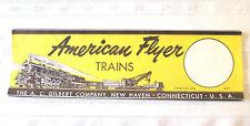 "American Flyer TRAIN SET BOX...."" REPLACEMENT LABEL""....NEW REPLICA LABEL!"