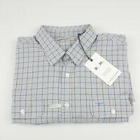RM Williams Men's Bourke Long Sleeve Shirt 4XL white brown blue Check NEW