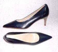 ELIZABETH STUART escarpins «pied fin» cuir bleu marine P 39 ½ neufs