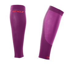2Xu - Unisex Performance Run Calf Sleeve (Ua2762b-Vvv/Ppd) Size L - 50% Off