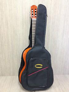 Caraya classical Guitar Soft Bag Black,back pack straps 5mm padding SPT-CG-39D