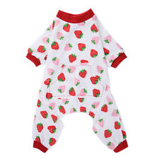 Small Dog Pajamas Clothes Cotton Jumpsuit Shirt Patterns Cozy Sleepwear XS-XL