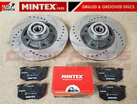 FOR RENAULT CLIO SPORT 172 182 REAR DRILLED GROOVED BRAKE DISCS ABS MINTEX PADS