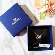 New In Box Swarovski Swan Silver Crystal Pendant Necklace 5007735 $99