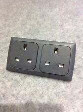 CBE C-Line Double 2-Gang 13a Socket, Faceplate & Back Box Caravan, Campervan