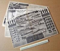 Our Allied Fleets Centrepread Modern World Homefront Magazine 1941