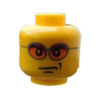 Lego 2 Stück Kopf in gelb Sonnenbrille orange für Minifigur 3626cpb0212 Neu