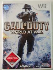 !!! Nintendo WII Jeu Call of Duty World At War usk18, Gebr. mais bien!!!