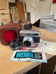 Vintage Zeiss Werra 1 De Luxe Camera - Jena Tessar 2.8/50 - Lens and case - Used