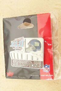2008 NY N.Y. New York Giants SB S.B. Super Bowl 42 XLII Champions lapel pin A