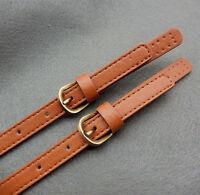 2Pcs Leather Replacement Handbag Messenger Bag Handle Shoulder Adjustable Strap