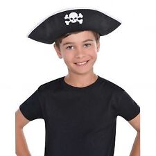 Child Pirate Hat Boys Girls Buccaneer Captain Shipmate Fancy Dress Accessory