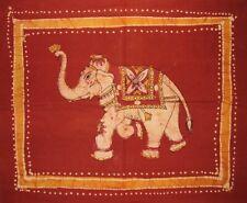 """Reversible Cotton Pillow Sham Authentic Batik Elephant 30"""" x 24"""" Multi Color"""