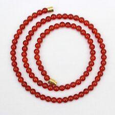 Carnelian Necklace 4mm Genuine Natural 4 mm carnelian Beads Red Orange beads