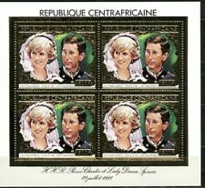 Central Africa Price Charles & Lady Dianna Wedding Stamp - Block Of 4
