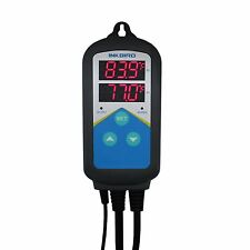 110V Digital Temperature Temp Controller Thermometer w/ Time Setting ITC-306T
