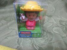 Fisher price little people single Farmer Mia NIB yellow hat woman person toy