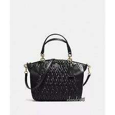 New COACH F37081 Kelsey Gathered twist Leather Satchel Bag Crossbody Handbag
