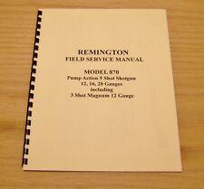 Remington Model 870 Field Service Manual - Gunsmith - #68