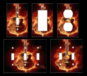 GUITAR ROCK AND ROLL Light Switch Covers Home Decor Outlet MULTIPLE OPTIONS