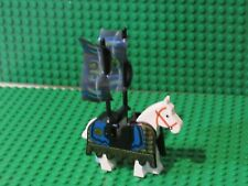 Lego White Horse Ninja Barding castle knights vintage black gold flags 3053 VJ30
