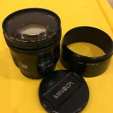 Minolta 85mm F1.4 (Mint) with Accessories