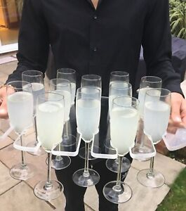 Champagne Flute Serving Tray Holds 12 Glass Flutes Acrylic Strong Party Wedding