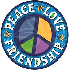 N.G. Peace Love Friendship Magnet for Cars, Lockers, and Offices, 5 3/4 Inch
