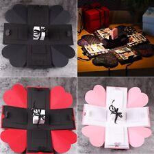 Xmas DIY Explosion Box Memory Scrapbook Photo Album Craft Kits Anniversary Gift