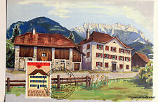 LIECHTENSTEIN   Carte Postale Maximum N° 93 batiment postaux   LIE07