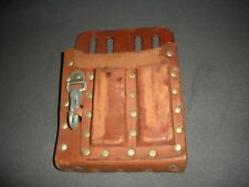 ELECTRICIANS LEATHER TOOL BELT POUCH LINEMAN LINE MAN HEAVY DUTY KLEIN STYLE