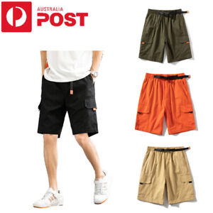 Summer Men Plus Size Casual Cargo Shorts Breathable Beach Sports Work Half Pants