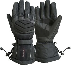 Infinity Motorbike Gloves Waterproof Thermal Winter Leather Textile Padded Glove