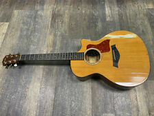 Taylor model 514ce acoustic electric guitar, finish cracked