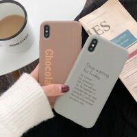 Letter Quote Case Soft Silicone Cover for iPhone 7 8 Plus X XR XS 12 11 Max Pro