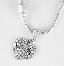 Present Lil Sis Pendent Lil Sis Jewe Lil Sis Necklace Lil Sis Gift chain Sisters
