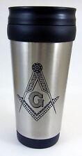 Masonic 16 ounce Stainless Steel Travel Tumbler Mug Freemason Mason Coffee Cup