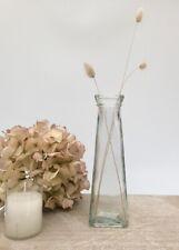 Vintage Style Clear Glass Flower Bud Vase Christmas Wedding Table Home Decor