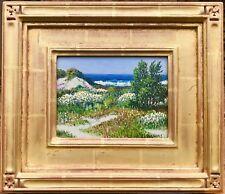 "Carl Sammons ""Wild Flowers, Carmel by the Sea""  Listed CA 22K Gold Leaf Frame"