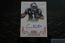2013 NATIONAL TREASURES FOOTBALL CAM NEWTON CENTURY RED SIGNATURES AUTO CARD 1/1