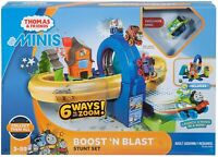 Fisher-Price Thomas & Friends MINIS Boost 'n Blast Stunt Train Play set